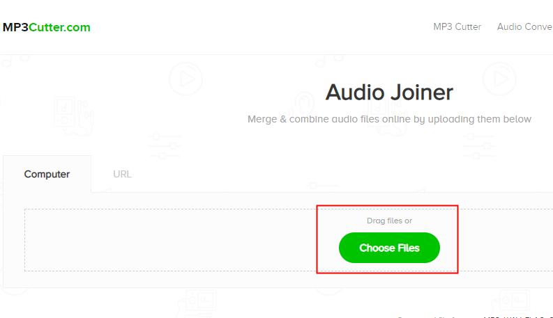 MP3 Cutterのchoose files