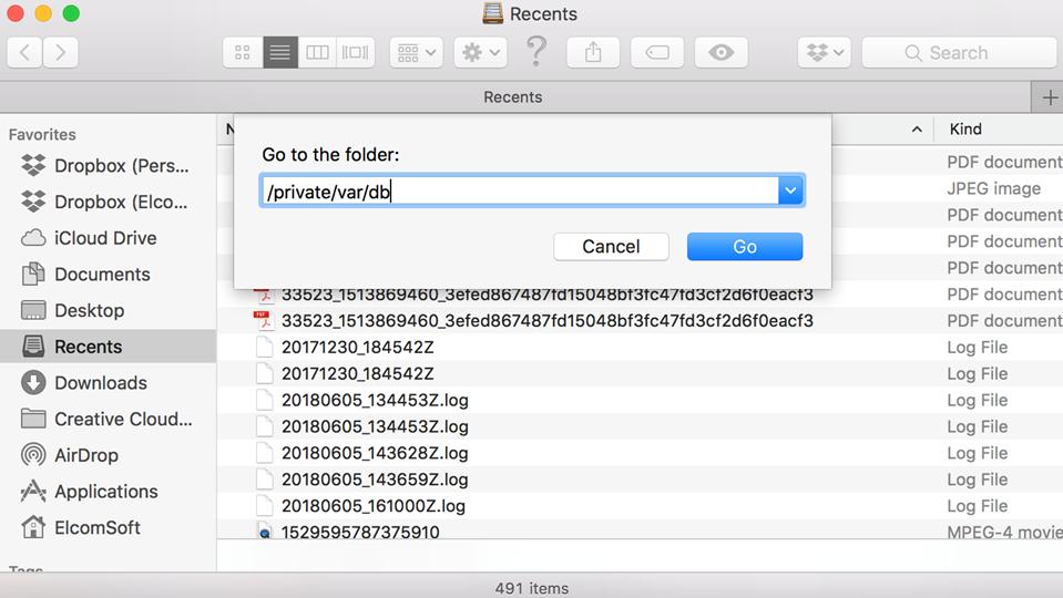Go to Folderを入力