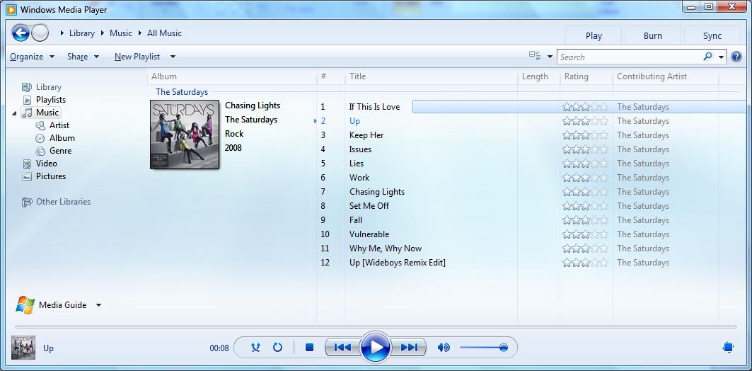Windows Media Playerソフト
