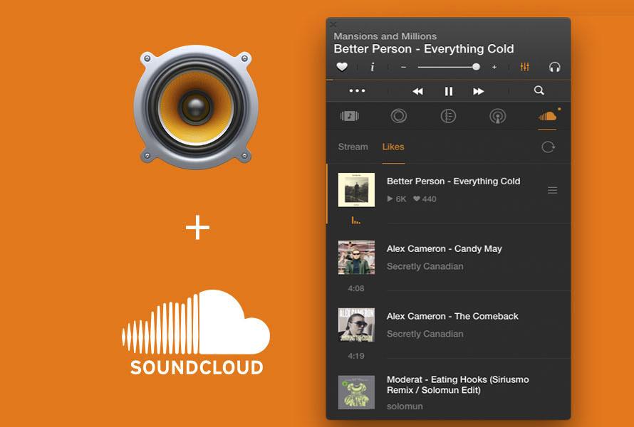 SoundCloudサイト