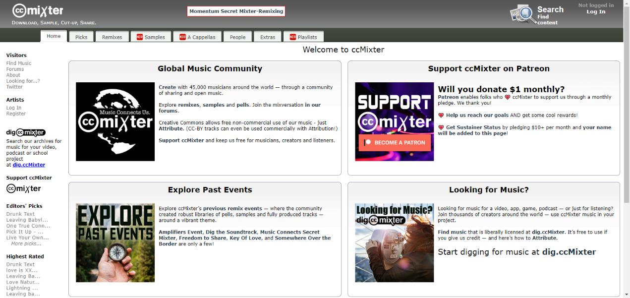ccMixterサイト