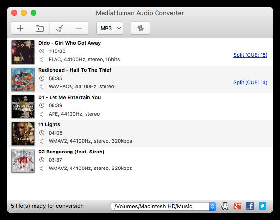 MealHuman Audio Converterソフト