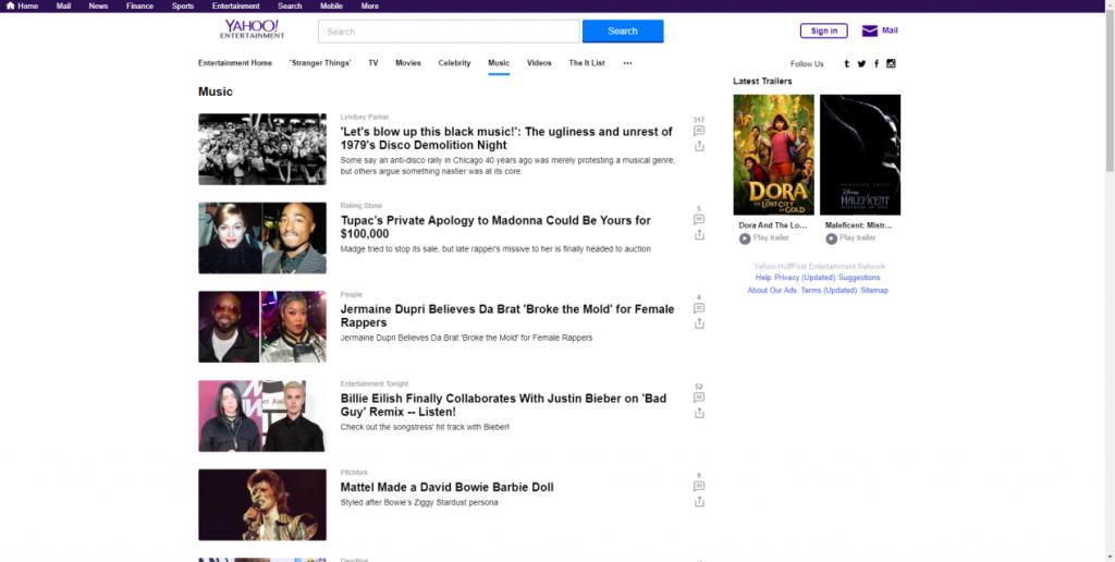 Yahoo! Musicサイト