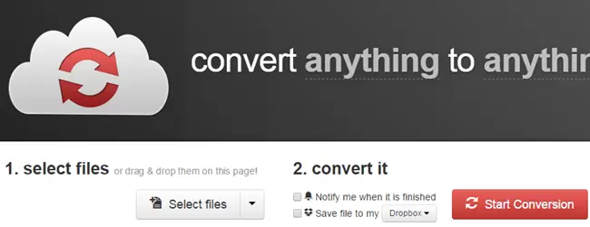 CloudConvertサイト