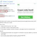 onlineconverterサイトでMIDIをMP3に変換