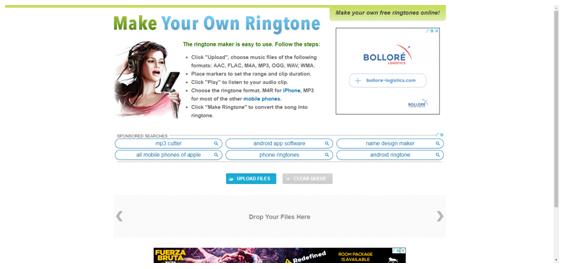 Make own ringtoneサイト