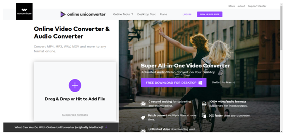 Online UniConverterサイト