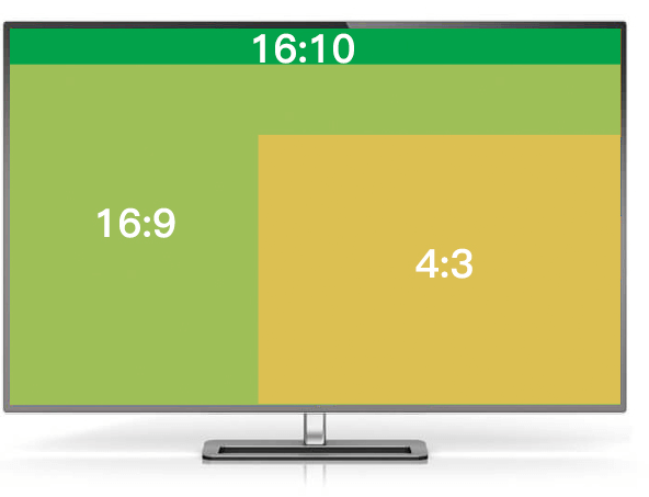 16:9、16:10、4:3