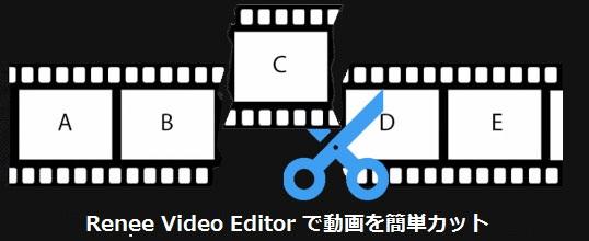 Renee Video Editor で動画を簡単カット
