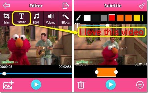 VideoShowで動画に文字を入れる
