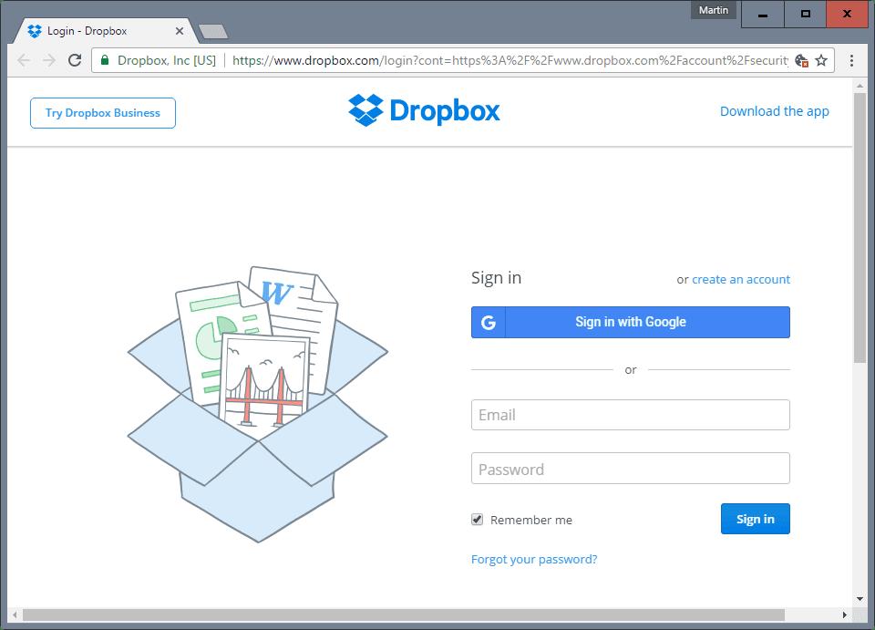 Dropboxソフト
