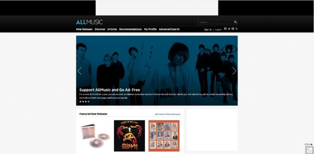 AllMusicサイト