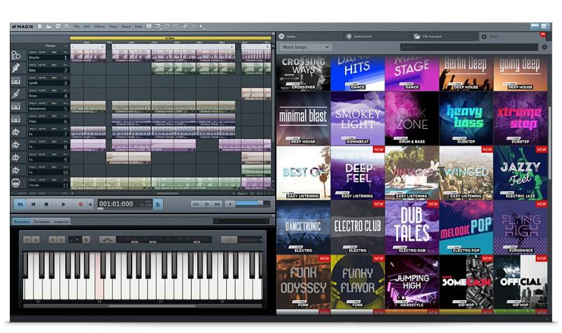 MAGIX Music Makerソフト