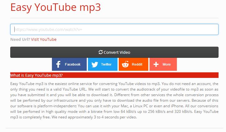 Easy YouTube mp3サイト