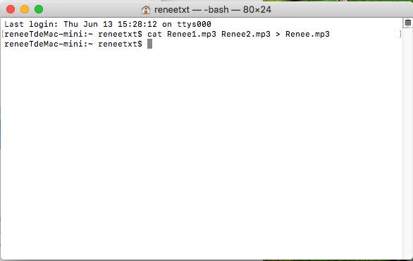 MacでMP3を結合するコマンド