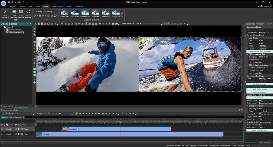 動画編集ソフトVSDC Free Video Editor