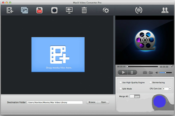 MacX Video Converter Proで動画を変換