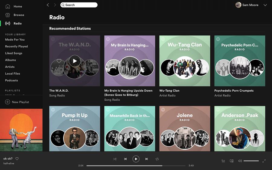 Spotify音楽プレーヤー