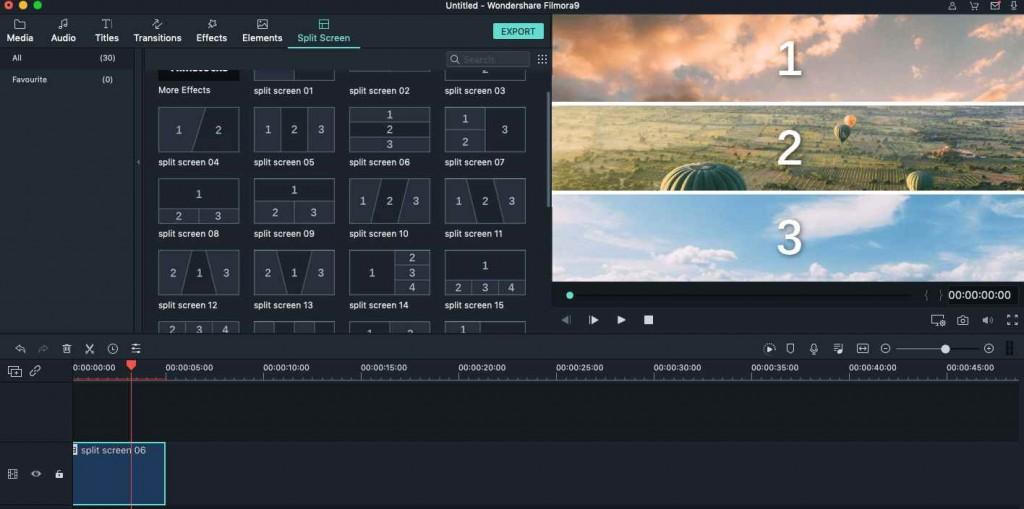 Filmora画面分割ソフト